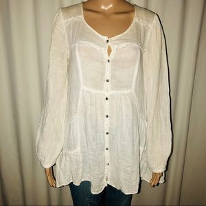 Free People buttoned boho blouse